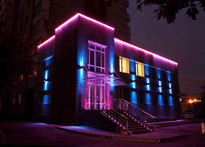 Архитектурная подсветка наружной рекламы
