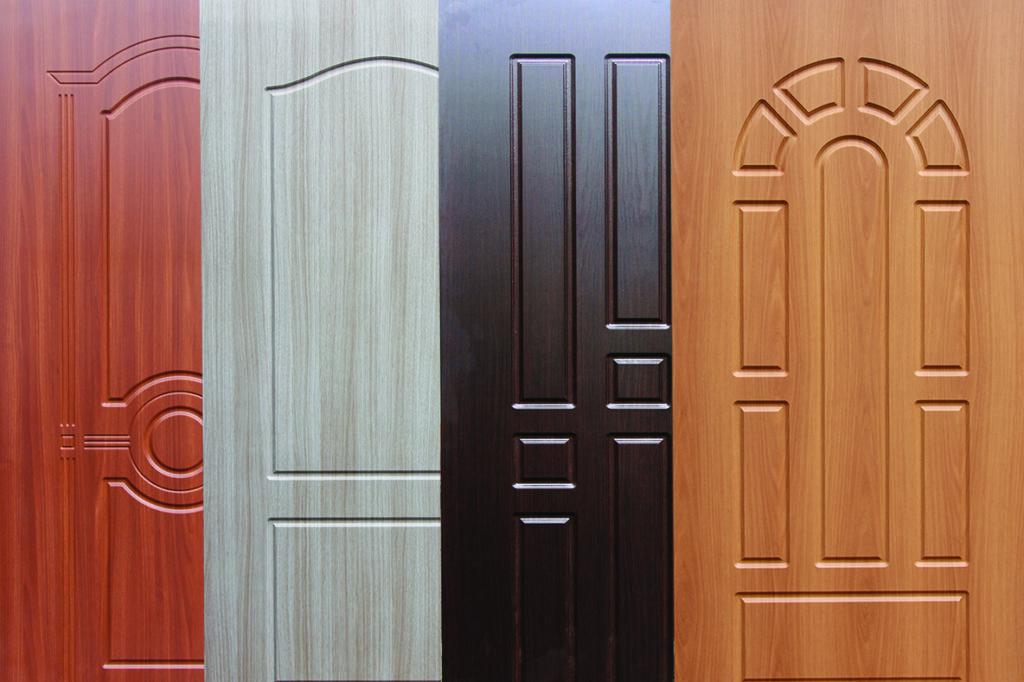 Внутренние двери с пазами (фрезерованными)